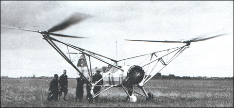 The first Fa 61 being prepared for flight.