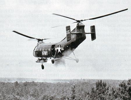 Опытный экземпляр двухвинтового вертолета продольной схемы Piasecki РD-22 (обозначение ВВС США - ХН-21) совершил свой...