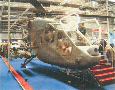 Mockup of HAL's projected light attack helicopter