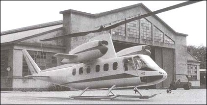 Mock-up of the SV-20A helicopter