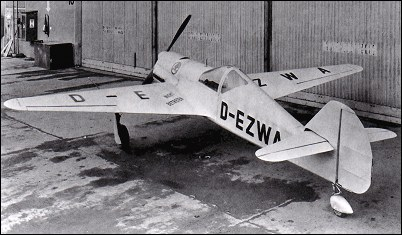Skoda-Kauba SK 257V-1 prototype, designed as an intermediate fighter trainer