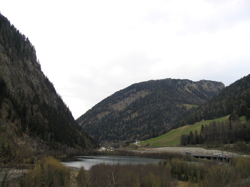 Driving along the Brenner pass