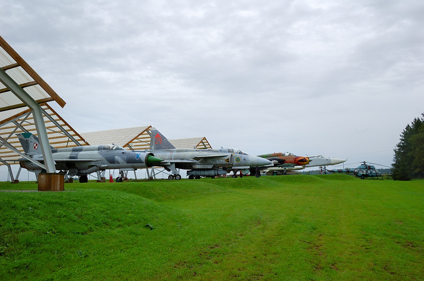 Military aircraft at the museum