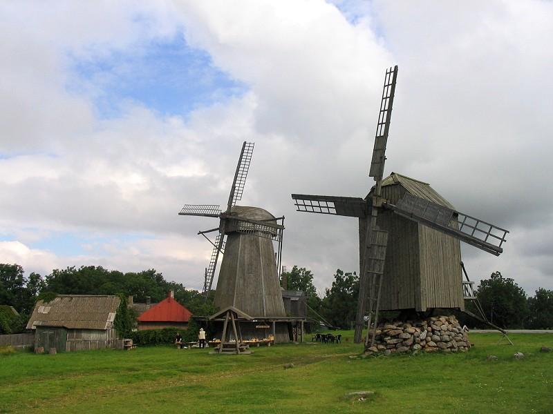 SAAREMAA, ESTONIA. Angla Windmills