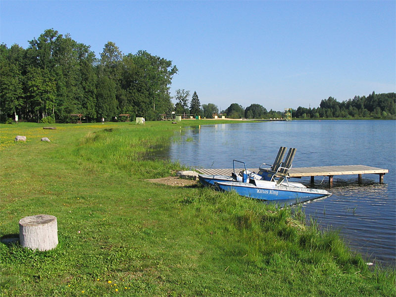 An artificial lake in Türi.