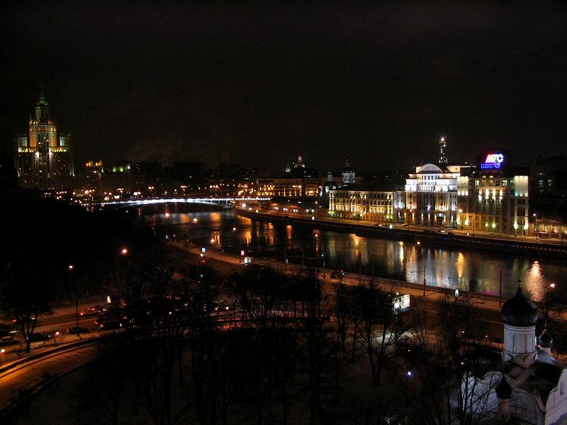 москва вид из окна фото ночью